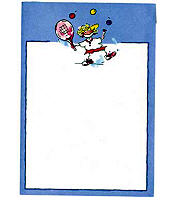 Tennis player note pad